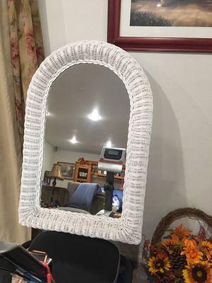 Wicker mirror for Sale in La Habra Heights, CA