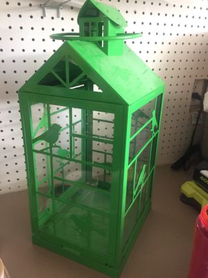 Christmas bird cage candle holder with glass wallls for Sale in Ridgefield, WA