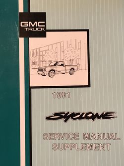 1991 GMC Syclone Service Manual Supplement Book for Sale in Littleton,  CO