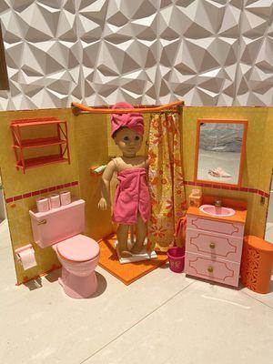 American doll bathroom for Sale in Pompano Beach, FL