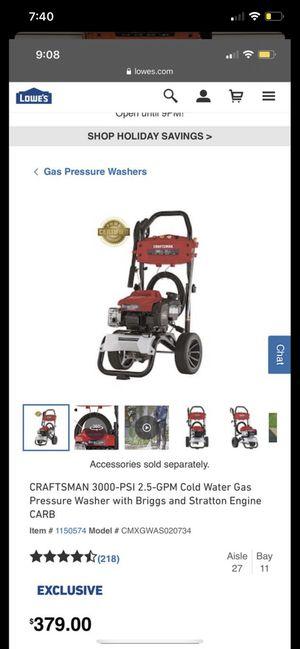 Craftsman Pressure Washer 2,800 PSI for Sale in Modesto, CA