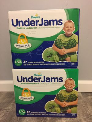 $36 for 2 box UnderJams by Pampers size L/XL/ pick up Gahanna for Sale in Gahanna, OH