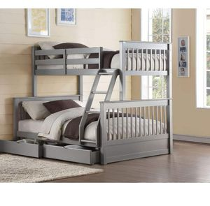 Twin/Full Bunk Bed w/2 Drawers - 37755 - Gray 26Y for Sale in Ontario, CA
