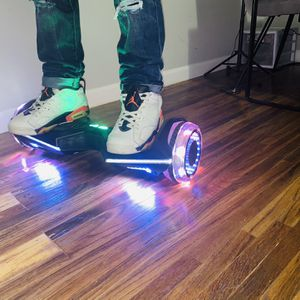 Hoverboard LED flash with Bluetooth speaker, color Black for Sale in East Hartford, CT