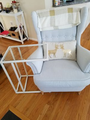 Side table glass and metal for Sale in Ashburn, VA