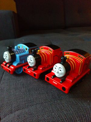 Three Thomas and Friends Engine Car Toy Thomas and James for Sale in Princeton, NJ