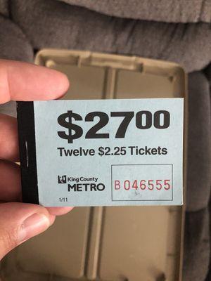 King county metro bus fare for Sale in Tacoma, WA