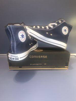 Converse Chuck Taylor All Star Hi - Dark blue / size man 8.5 women 10 for Sale in Los Angeles, CA