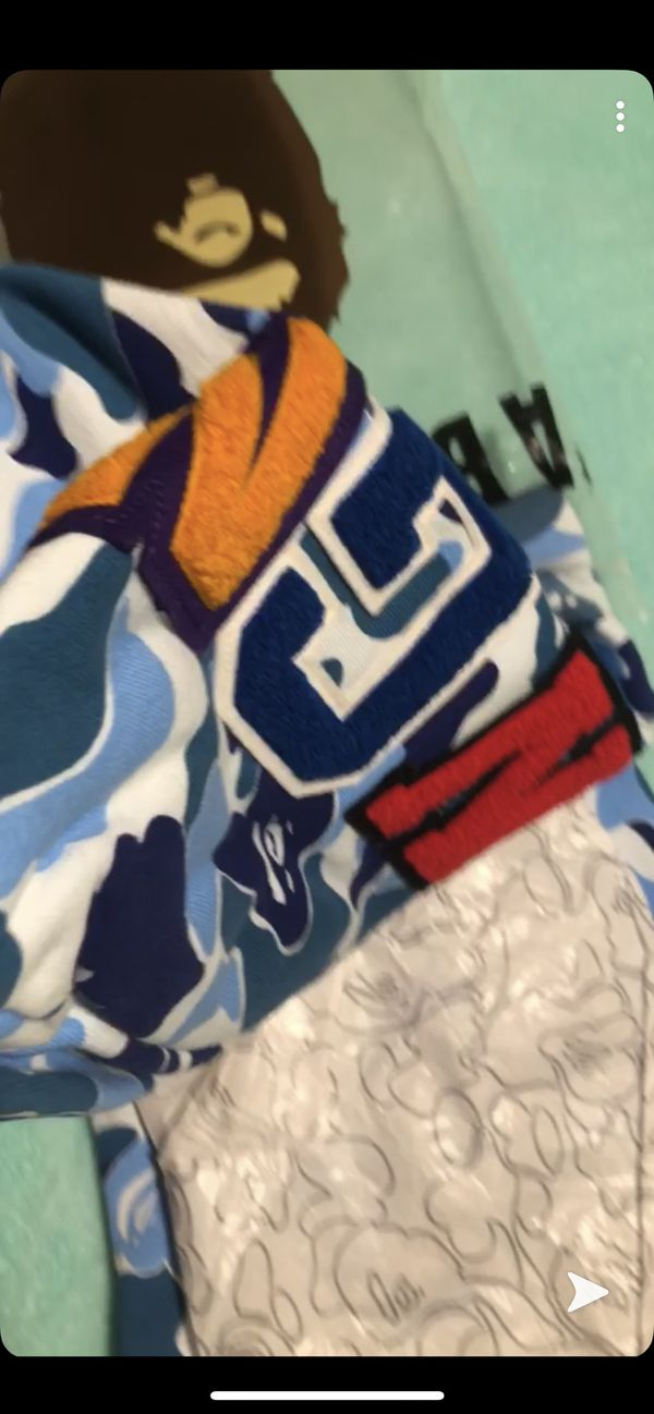 Bape hoodie blue size M stock x verified