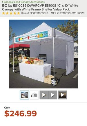 Canopy comercial 10x10 instantánea con paredes incluidas !!!! for Sale in Bell, CA