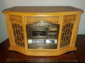 CD tape radio record player wood made in USA for Sale in El Cajon, CA