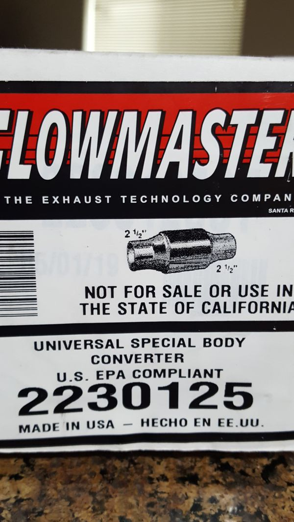 Flowmaster High Flow Catalytic Converter - Universal (2.5 inch inlet/outlet)