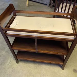 Nice Dark Wood Changing Table for Sale in Los Angeles, CA