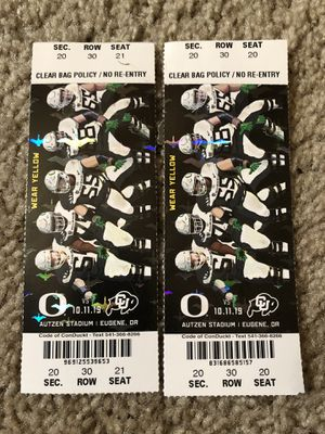 Oregon Duck tickets for Sale in Vancouver, WA