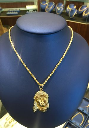 Rope Chain With Jesus Pendant for Sale in Raleigh, NC