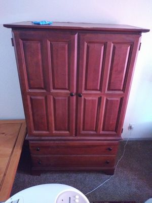 Queen bed in entertainment center great condition 200 obo for Sale in Bryan, TX
