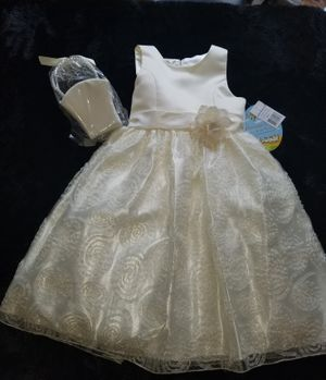 Ivory Flowergirl dress size 8 and purse for Sale in Lithonia, GA