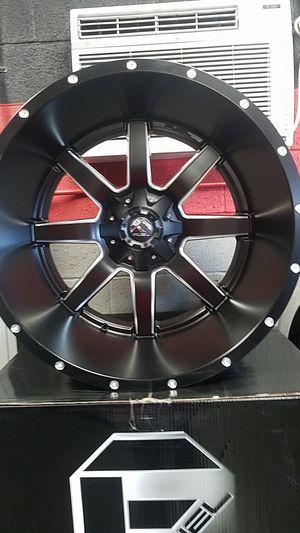 24 inch rims 5x150/5x139.7 black milled edge for Sale in Las Vegas, NV
