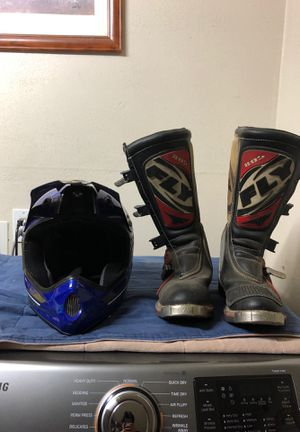Motocross helmet & boots for Sale in Rialto, CA