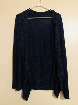 Navy Blue Glitter Cardigan Size Medium for Sale in Meriden, CT