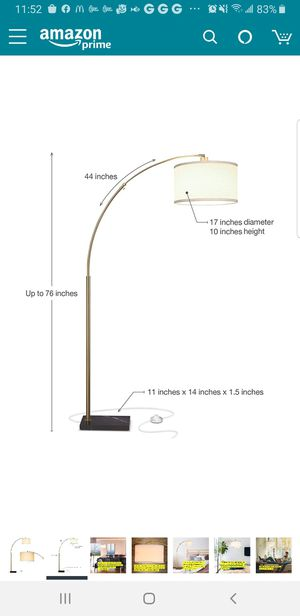 K26 - LED Floor Lamp with Marble Base for Sale in Orange, CA