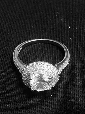 Sterling Silver Big Round CZ Ring for Sale in Las Vegas, NV
