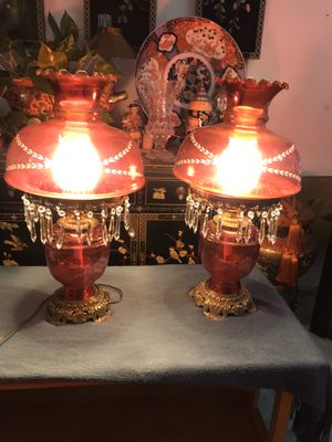 Two beautiful antique lamps for Sale in Rancho Cucamonga, CA