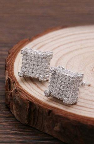 Silver Earring For Men zirconia diamond Stud Earring Fashion. for Sale in Dallas, TX