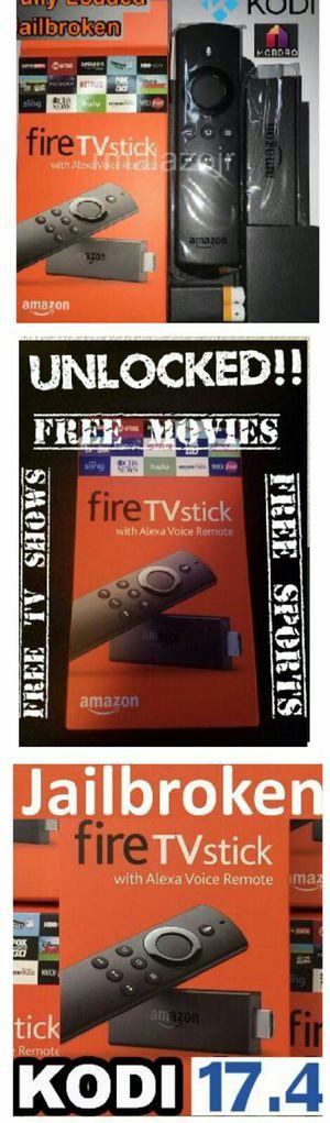 Amazon Fire TV Stick Firestick Unlocked / Jailbroken / Fully Loaded w Live Tv Movies TV Shows Music Radio PPVs Android TV Box Killer!! 🔥 🔥 for Sale in Las Vegas, NV