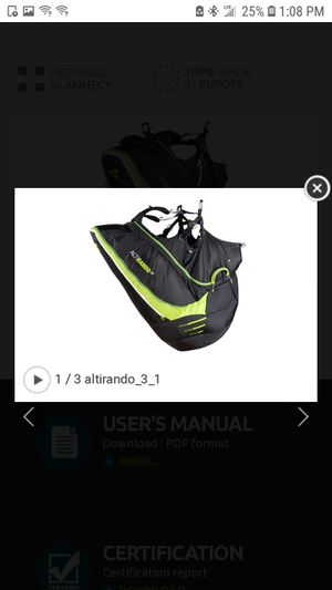 ALTIRANDO 3 Sud paragliding backpack for Sale in Auburn, WA