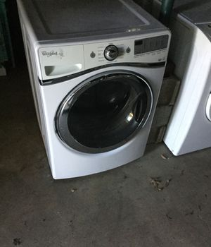 Whirlpool large washer/ 90 day warranty/ steam / air dry for Sale in Durham, NC