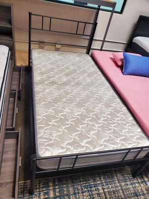 Twin Metal Platform Bed with Headboard, Black for Sale in Santa Fe Springs, CA