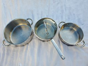 3 Chef's Mark cookware set (Stainless Steel and Cooper Bottom) for Sale in Miami, FL