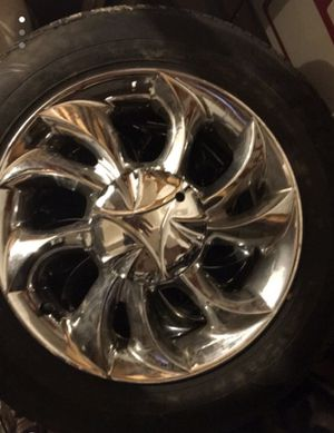 Chrome rims and tires - size 15 ($300 OBO) for Sale in Columbus, OH