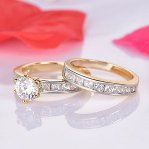 18K Gold plated Engagement/Wedding Ring Set for Sale in Houston, TX