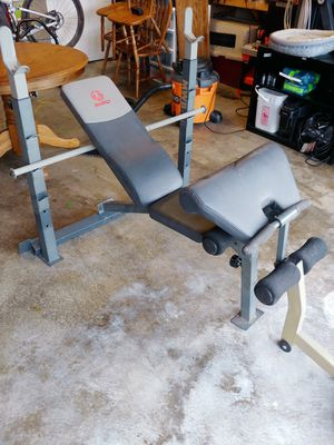 Marcy bench and weights for Sale in Monroe, WA