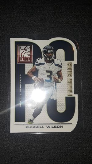 2013 Elite Football Seattle Seahawks Russell Wilson Primary Color Diecut for Sale in Grand Prairie, TX