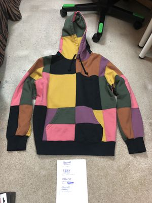 Supreme Patchwork Hoodie Size Large FW17 pink black brown jacket pullover box logo for Sale in Buena Park, CA