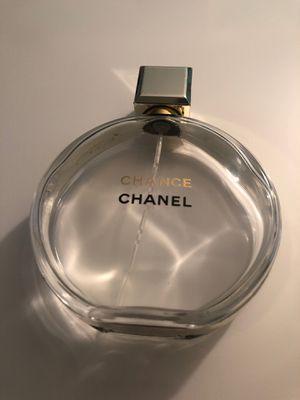 Chanel chance empty perfume bottle 3.4 ounces for Sale in Tamarac, FL