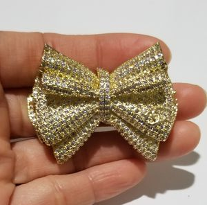 Chanell Cz diamond bow brooch pin gold for Sale in Austin, TX