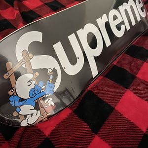 SUPREME SMURF SKATE DECK BRAND NEW STILL IN PLASTIC DEADSTOCK for Sale in Phoenix, AZ