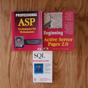 ASP, Active Server Pages 2.0, and SQL manuals for Sale in Norfolk, VA