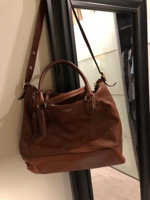 Authentic Coach Leather Tote - caramel; in excellent condition; originally $500 for Sale in Denver, CO