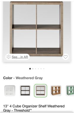 "13"" 4 Cube Organizer Shelf Weathered Gray - Threshold for Sale in The Bronx,  NY"