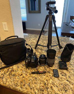 Nikon D3200 With Tripod remote and 2 lenses for Sale in Atlanta, GA