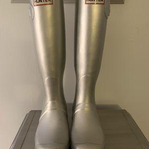 Silver Hunter Rain Boots for Sale in Toms River, NJ