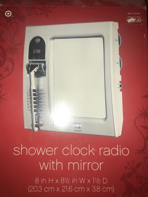 Shower clock, with alarm and radio for Sale in Las Vegas, NV