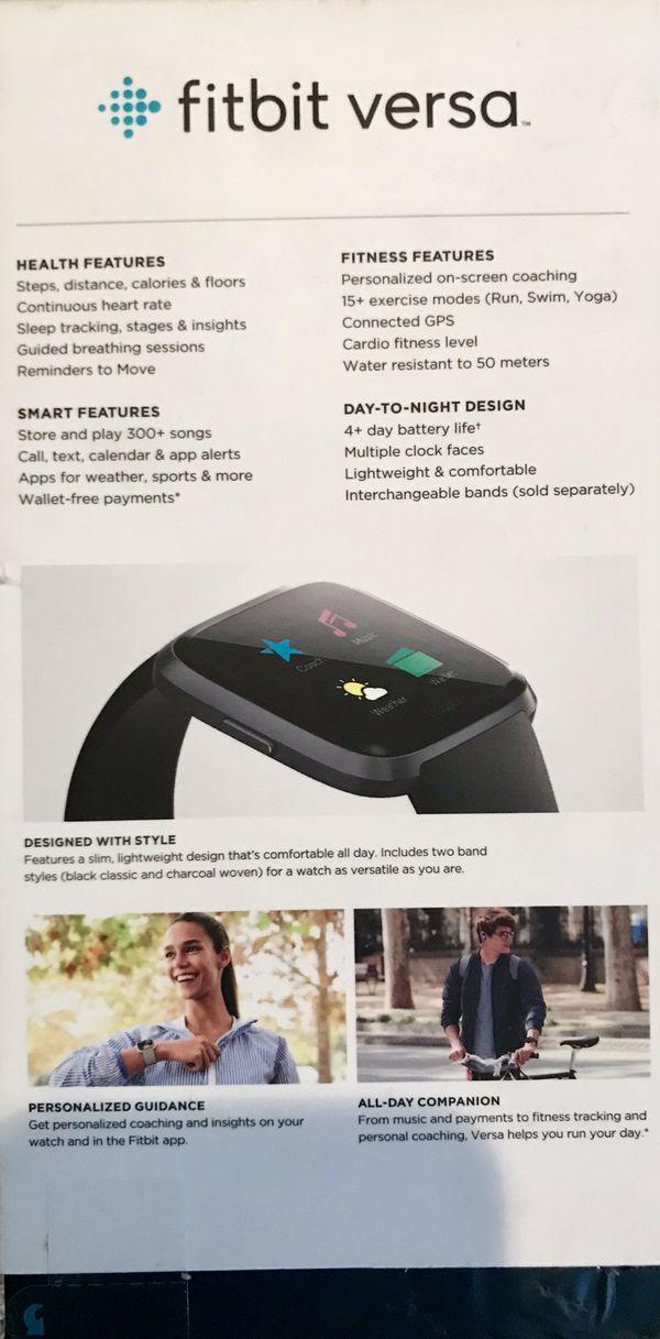 Fitbit Versa Smartwatch Activity tracker for Sale in Folsom, CA - OfferUp