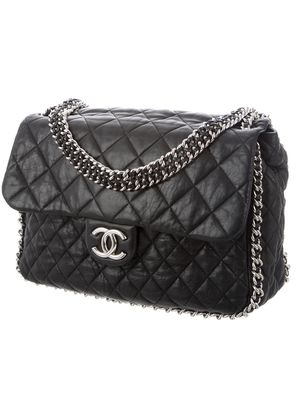 AUTHENTIC CHANEL Maxi Quilted Lambskin XL Chain Around Flap Shoulder Bag -Black for Sale in La Jolla, CA
