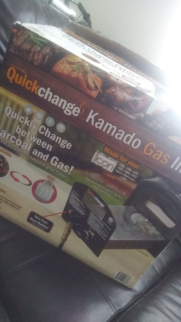 Quick Change for Kamado Gas Grilling